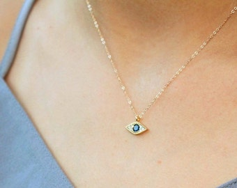 Tiny Evil Eye Necklace 2134d5c620