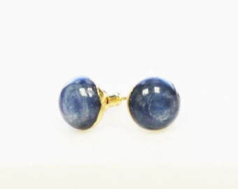 Denim Blue Kyanite Stud Earrings
