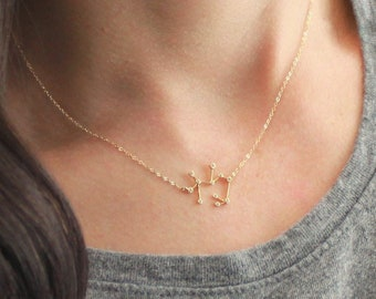 Zodiac Necklace, Astrology, TINY Constellation Necklace