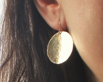 Alexa - Large Gold Coin Earrings