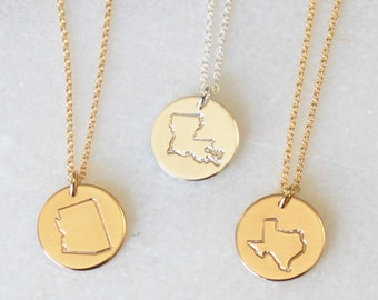 Custom State Necklace - all 50 states available