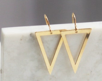 Stefanie - Open Triangle Earrings