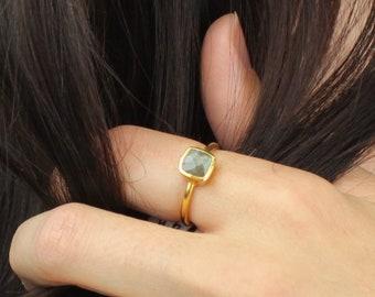 Labradorite Ring, Gift Women, Rings For Women, Gemstone Ring, Statement Ring, Gifts For Women, Birthday Gifts, Gemstone Ring, Gift for her