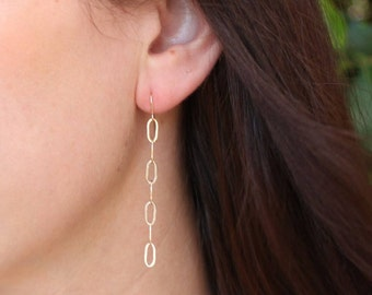 Olive - Paperclip Chain Dangle Earring