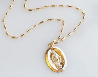 Large Miraculous Medal Necklace