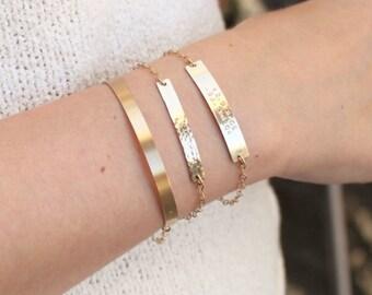Premium Bar Custom Name Bracelet