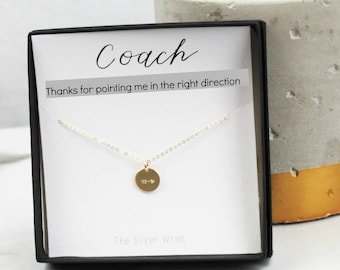 Coach Gift, Jewelry Gift, Gift for Her, Gift for Coach, Necklace, Dainty necklace, Gift for Women, Gift under 30, Sports Gift, Inspiration