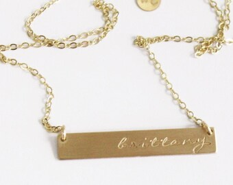 Premium Gold Bar Necklace