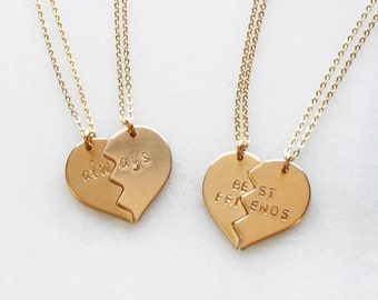Necklaces for Women, Perfect Gift for Her, Friend Sister Mom Best Friend Gift Necklace, Silver or Gold Necklace, Broken Heart Necklace