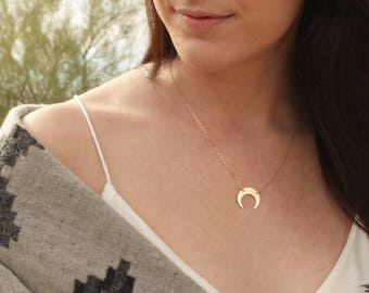 Upside Down Moon Necklace