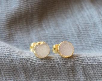 Tiny Druzy Stud Earrings