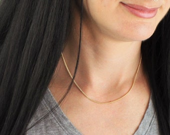 Simple Curb Chain Necklace