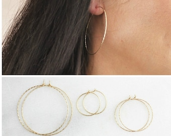 Harper - Simple Hoop Earrings