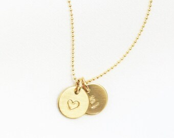 Charm Necklace, Petite Initial Necklace, Personalized Necklace, Gift for Her, Personalized Gift, Dainty Jewelry, Initial Charm Necklace