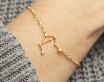 Zodiac Necklace, Astrology, TINY Constellation Necklace