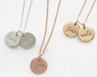 Medium Disc Name Necklace