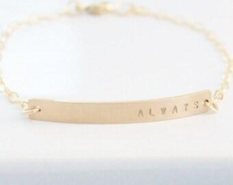 DAINTY Gold Nameplate Bracelet