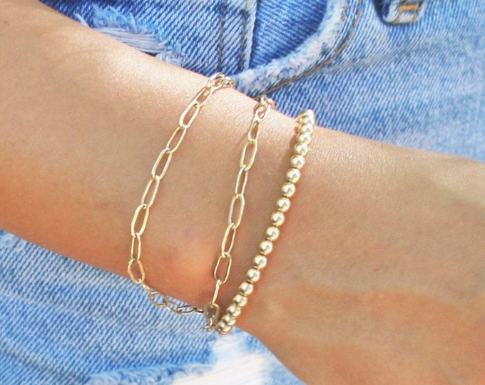 Featured listing image: Paperclip Chain Bracelet - Silver or Gold
