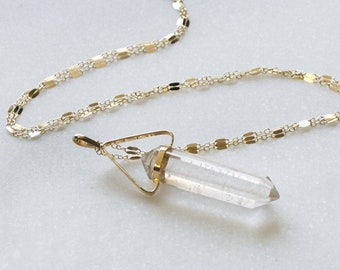 Crystal Long Pendant Necklace