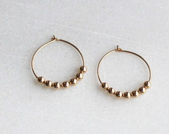 Beaded Small Hoop Earrings