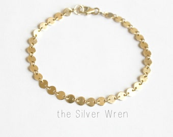 Dainty Coin Chain Bracelet