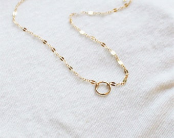 Mini Eternity Necklace in Fancy or Bar Chain