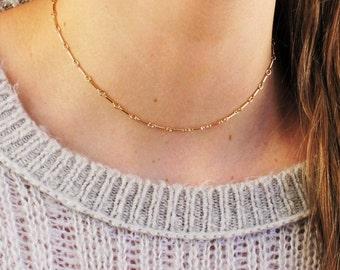 Gold or Silver Bar Chain Choker