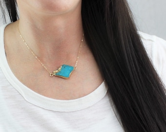 Suspended Turquoise Necklace