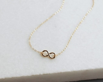 Gold Infinity Necklace, Gold Necklace, Minimalist Jewelry Necklace, All 14kt Gold Filled, Necklace, Jewelry, Gifts for Wife, Gifts for Her