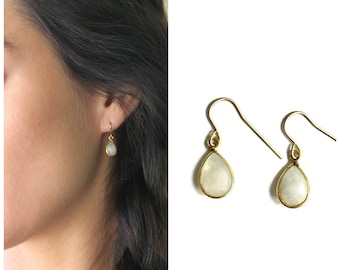 Emma - Gem Teardrop Earrings