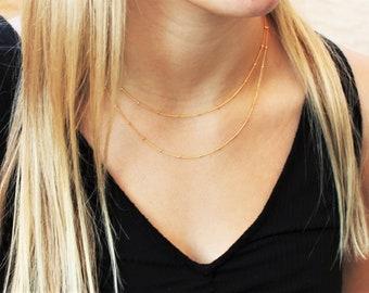 Dainty Satellite Necklace