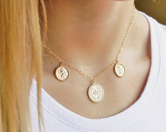 Triple Medallion Necklace - Aura Collection
