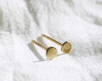 Ultra Tiny Gold Dot Stud Earrings