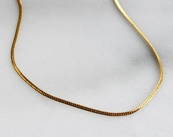 Simple Gold Herringbone Necklace - Aura Collection
