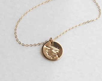 Dragon Necklace in Silver, Rose or Gold