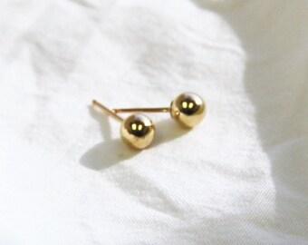 Chelsea - Gold Ball Stud Earrings