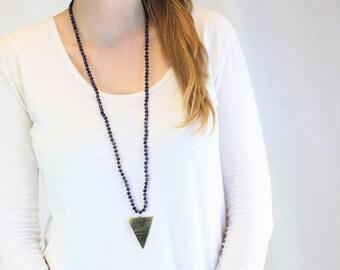 Long Pendant Necklace - Choose your color