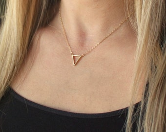 Suspended Triangle Necklace