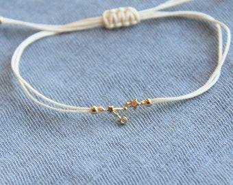 Zodiac Bracelet - Adjustable Ivory String