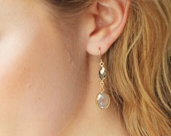 Pyrite Pendant Earrings