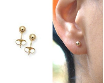 Chelsea - Tiny Gold Earrings, Stud Earrings, Gold Earrings