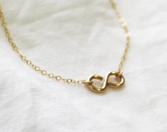 Gold Infinity Necklace  DN214