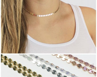 Tattoo Choker Necklace in your choice of Silver, Rose or Gold
