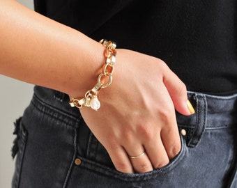 Extra Chunky Gold Bracelet - Aura Collection