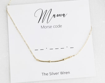 Mama, Gift Mom, Jewelry Gift, Gift for Her, New Mom, Mothers Day Gift, Gift for Mothers Day, Morse Code, Dainty Jewelry, Gift for Mom