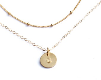 Satellite & Petite Disc Layered Necklace Set