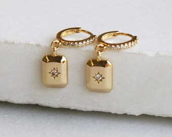 North Star Hoop Earrings - Aura Collection