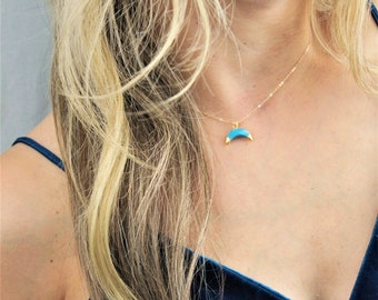 Moon Pendant Necklace, Gifts for Women