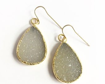 Camilla - Druzy Earrings