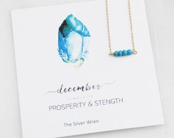Birthday Gifts For Her, December Birthstone, Necklaces for Women, Turquoise, December Birthday
